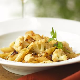 cauliflower with penne pasta as seen on linenlavenderlife com