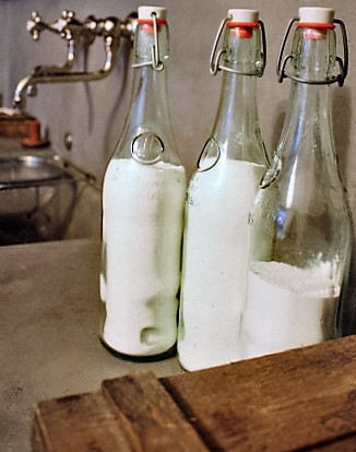 l&l at home-dishwasher detergent powder in swinglatch bottles-image by L for Thinking Outside the Box - www.linenlavenderlife.com