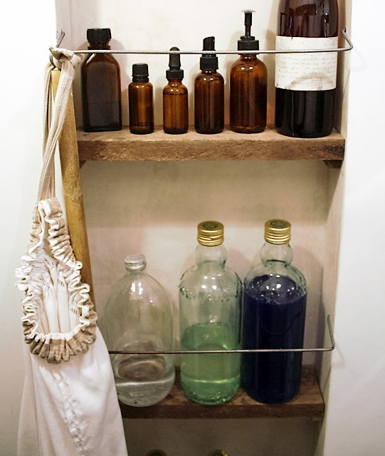 l&l at home-laundry room shelves-image by L for Thinking Outside the Box - www.linenlavenderlife.com