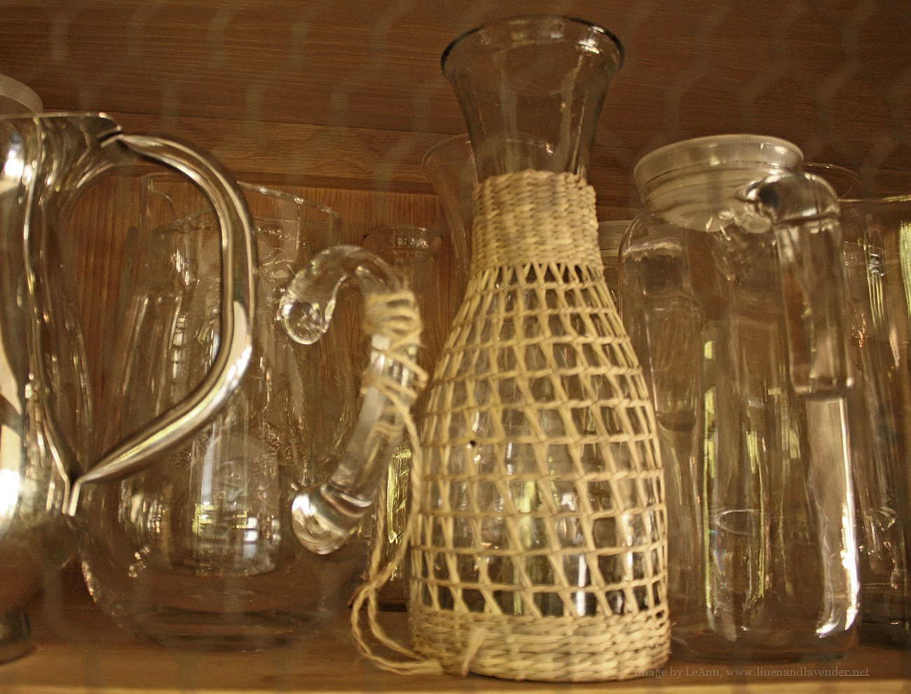 l&l at home-glass carafes, pitchers-image by L for Thinking Outside the Box - www.linenlavenderlife.com